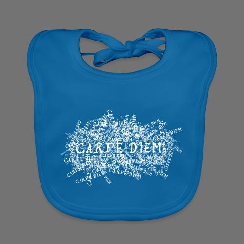 carpe diem (white) - Baby Bio-Lätzchen
