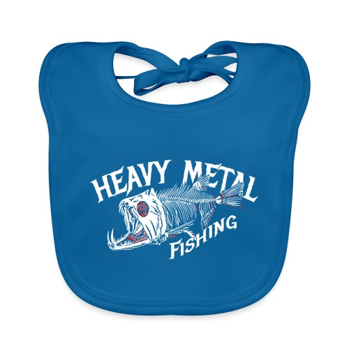 heavy metal fishing Angler T-Shirt - Baby Bio-Lätzchen