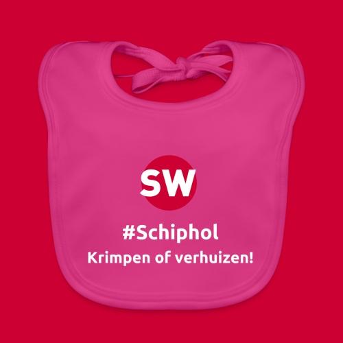#Schiphol - krimpen of verhuizen! - Bio-slabbetje voor baby's