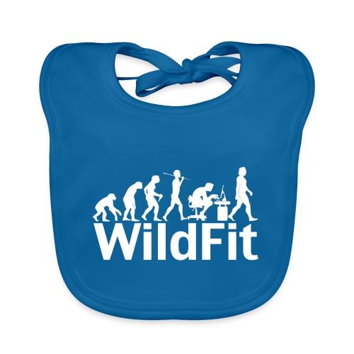 WildFit Logo Evolution Weiß - Baby Bio-Lätzchen