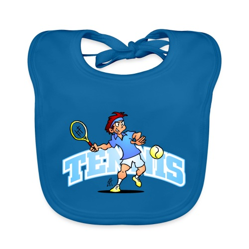 Tennis IV txt fc - Organic Baby Bibs
