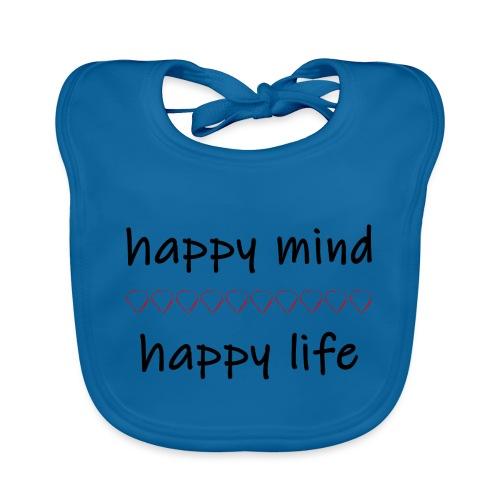 happy mind - happy life - Baby Bio-Lätzchen