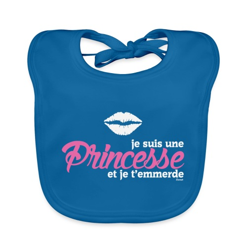 Je suis une Princesse.. (F) - Bavoir bio Bébé