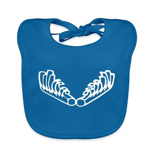 Kiehiset_logo_wit - Vauvan luomuruokalappu