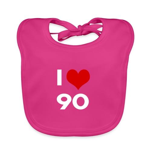 I love 90 - Bavaglino ecologico per neonato