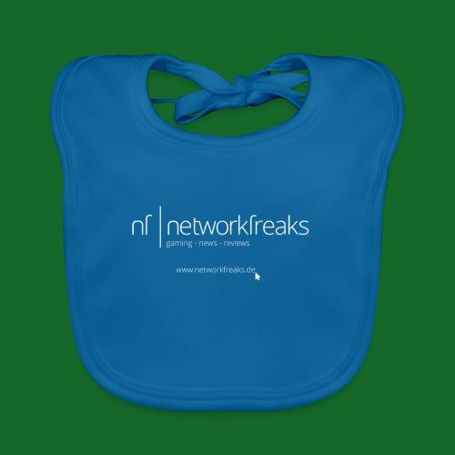 T-Shirt NetworkFreaks Weiße Aufschrift - Baby Bio-Lätzchen