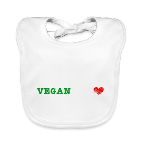 be my VEGANtine - white - Baby Organic Bib