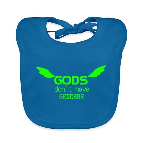 Gods don't have Genders (Green) - Vauvan luomuruokalappu