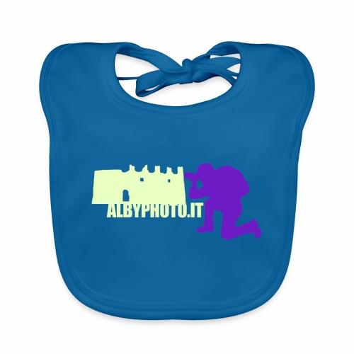 Logo Albyphoto Viola & Giallino - Bavaglino ecologico per neonato