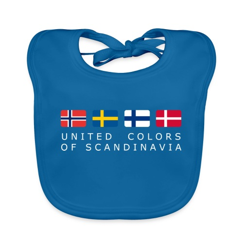 UNITED COLORS OF SCANDINAVIA white-lettered - Organic Baby Bibs