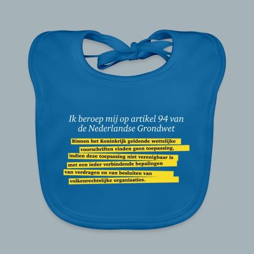 Nederlandse Grondwet T-Shirt - Artikel 94 - Bio-slabbetje voor baby's