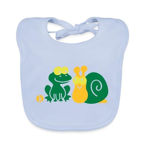 Frosch und Schnecke (c2) Freundschaft - Baby Bio-Lätzchen
