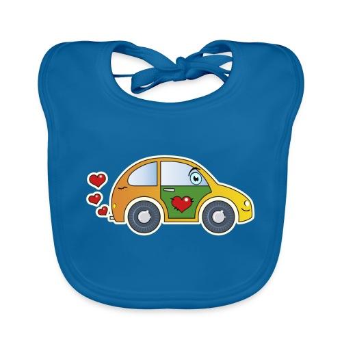 Kids Car Spielzeugauto Herzen bunt fröhlich Kinder - Baby Organic Bib
