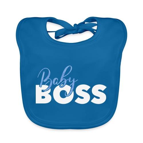 Baby Boss weiss blau - Baby Bio-Lätzchen