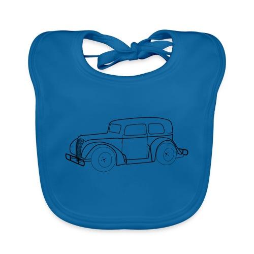 Racing Car schwarz - Baby Bio-Lätzchen