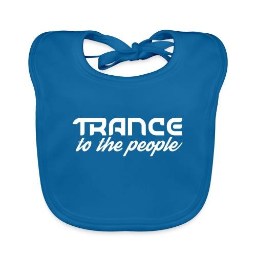 Trance to the People Hvidt Logo - Hagesmække af økologisk bomuld