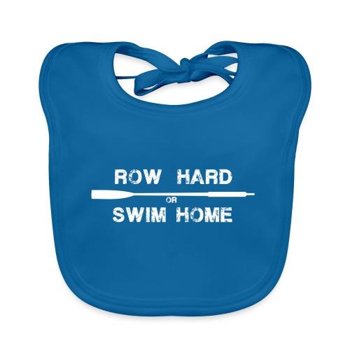 row hard or swim home (white) - Baby Organic Bib