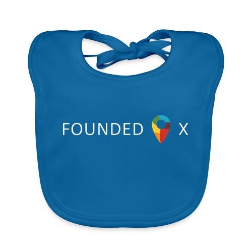 FoundedX logo white png - Organic Baby Bibs
