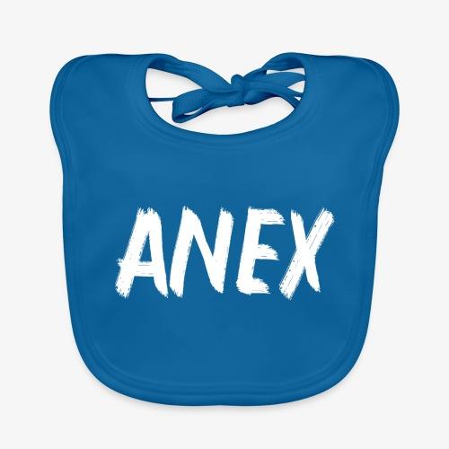 V-neck T-Shirt Anex white logo - Baby Organic Bib