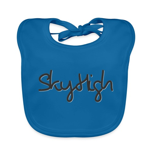 SkyHigh - Men's Premium T-Shirt - Black Lettering - Baby Organic Bib