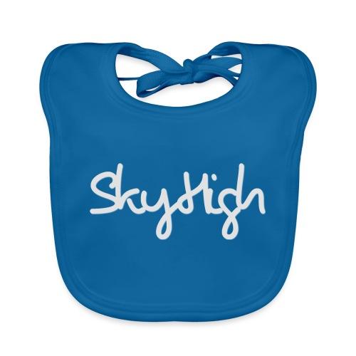 SkyHigh - Women's Hoodie - Gray Lettering - Baby Organic Bib