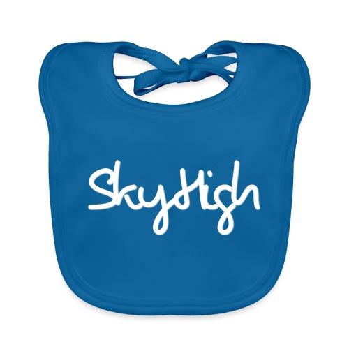 SkyHigh - Men's Premium Hoodie - White Lettering - Baby Organic Bib