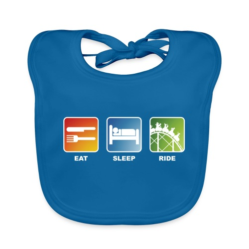Eat, Sleep, Ride! - T-Shirt Schwarz - Baby Bio-Lätzchen