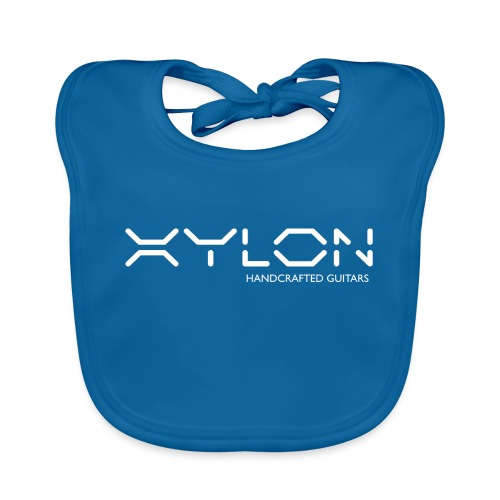 Xylon Handcrafted Guitars (name only logo white) - Organic Baby Bibs