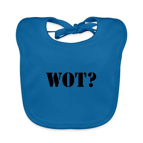 Wot? Logo - Organic Baby Bibs