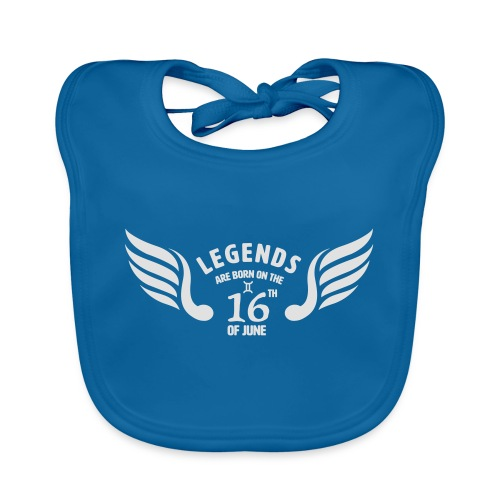 Legends are born on the 16th of june - Bio-slabbetje voor baby's