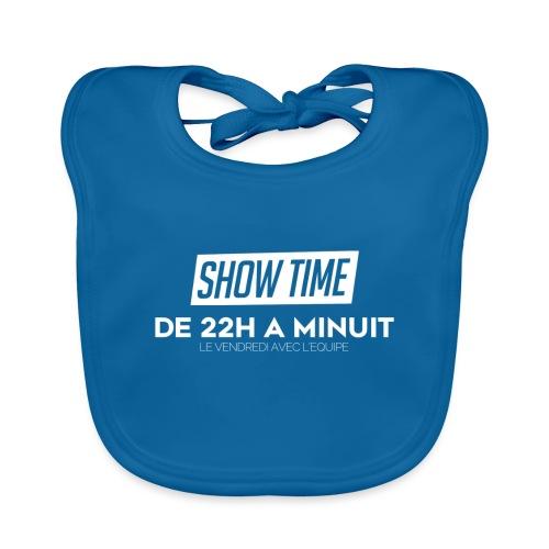 Logo ShowTime Blanc - Bavoir bio Bébé