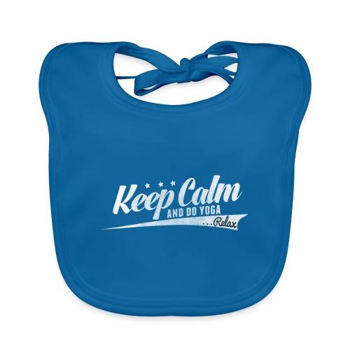 Yoga Relax Keep Calm - Baby Bio-Lätzchen