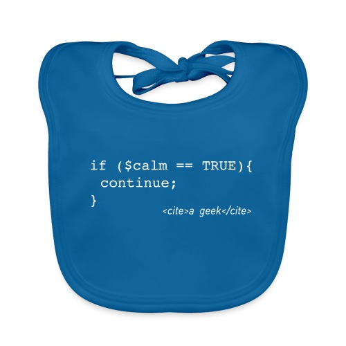 Coder's Keep Calm (with white text) - Organic Baby Bibs