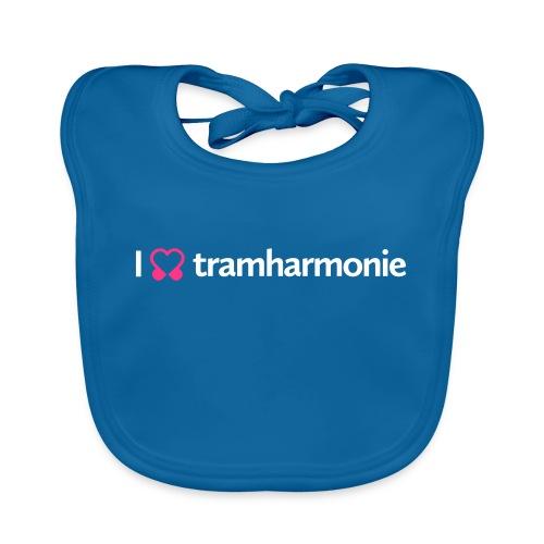 tramharmonie logo wit letters - Bio-slabbetje voor baby's