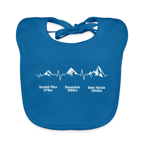 ECG Thee Peaks Dark Background - Baby Organic Bib