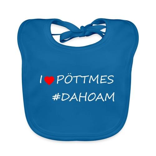 I ❤️ PÖTTMES #DAHOAM - Baby Bio-Lätzchen