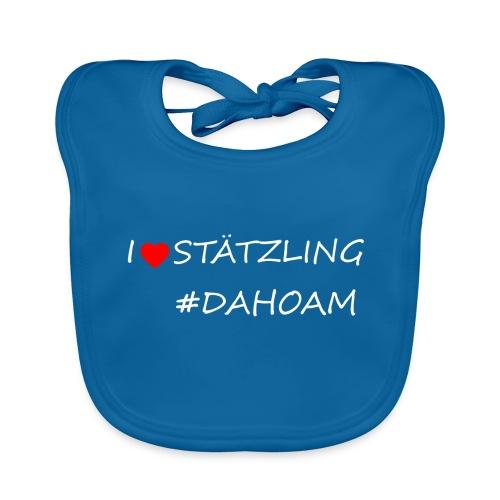 I ❤️ STÄTZLING #DAHOAM - Baby Bio-Lätzchen