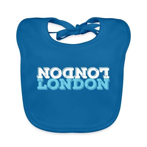 London Souvenir - Upside Down London - Baby Bio-Lätzchen