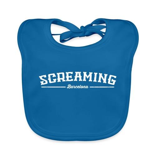 SCREAMING - Babero de algodón orgánico para bebés