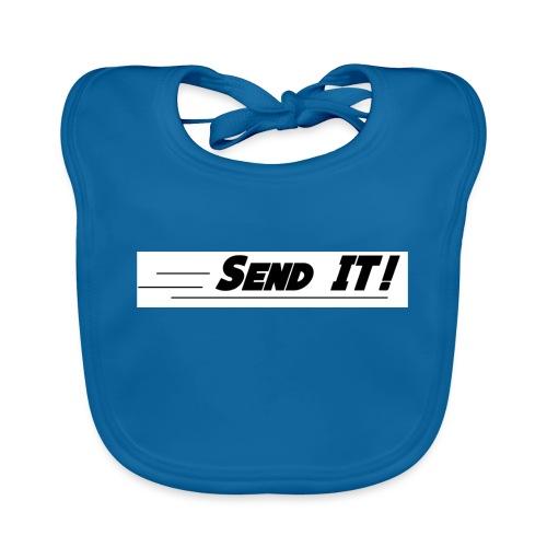 send it logo white - Baby Organic Bib