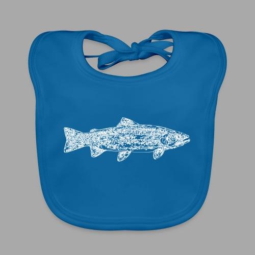 Line trout white - Vauvan ruokalappu