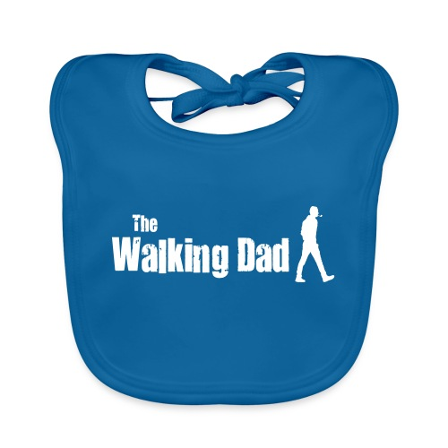 the walking dad white text on black - Organic Baby Bibs