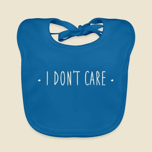 I don't care - Bavoir bio Bébé