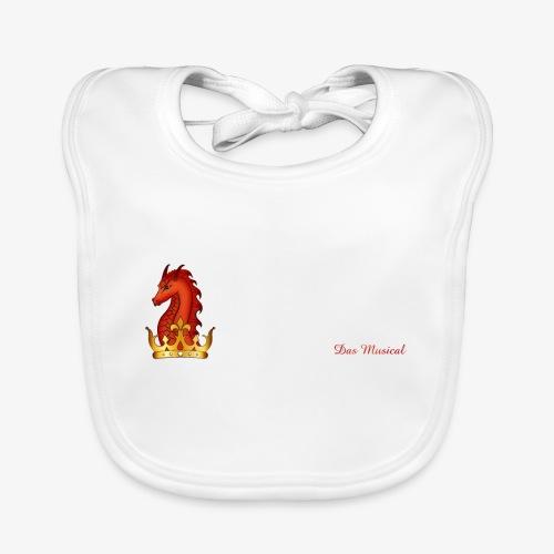 Drachenkönig Logo Schrift - Baby Bio-Lätzchen