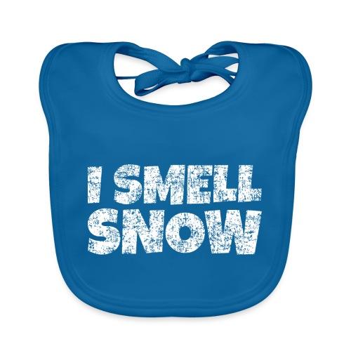 I Smell Snow Schnee, Weihnachten & Wintersport - Baby Bio-Lätzchen