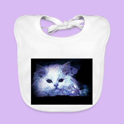 Gatto bianco glitter - Bavaglino