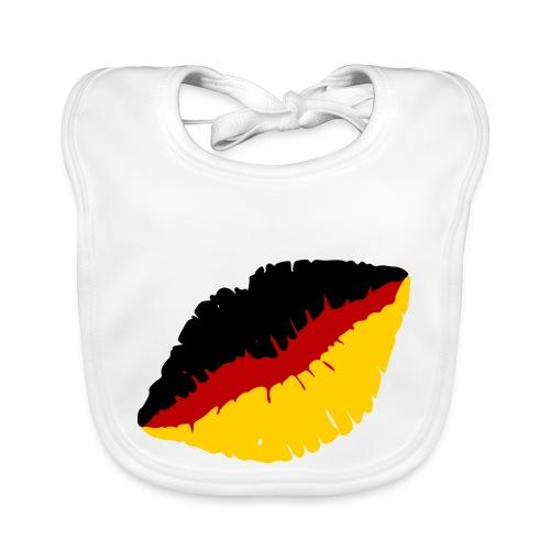 Deutschland Lippen Motiv - Baby Bio-Lätzchen