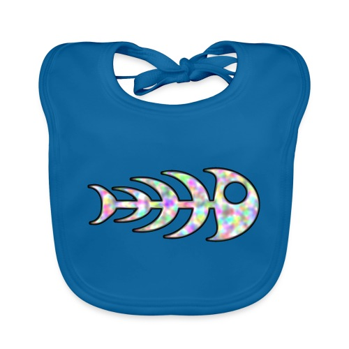 fish legs in rainbow colors - Baby Organic Bib