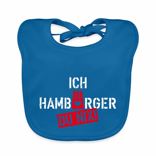 108 Ich Hamburger Du Nix Wappen Spruch Humor - Baby Bio-Lätzchen