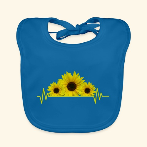 Sonnenblumen Herzschlag Sonnenblume Blumen Blüten - Baby Bio-Lätzchen